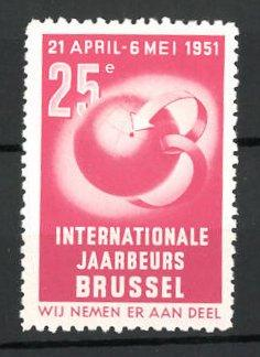 Reklamemarke Brussel, internationale Jaarbeurs 1951, Messelogo