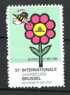 Reklamemarke Brussel, 37e Internationale Jaarbeurs 1964, Messelogo