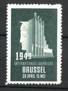 Reklamemarke Brussel, Internationale Jaarbeurs 1949, Messelogo