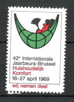 Reklamemarke Brussel, 42e internationale Jaarbeurs 1969, Messelogo