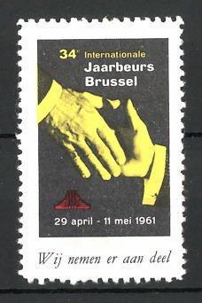 Reklamemarke Brussel, 34e Internationale Jaarbeurs 1961, Messelogo