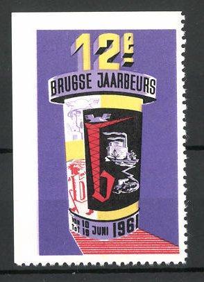 Reklamemarke Brugge, 12e Jaarbeurs 1961, Messelogo