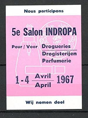 "Reklamemarke 5e Salon ""Indopra"" pour Parfumerie 1967,"