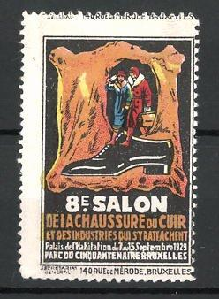 Reklamemarke Bruxelles, 8e Salon de la Chaussure