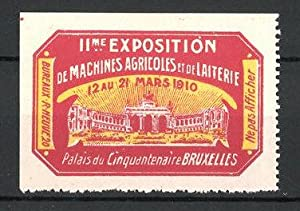 Reklamemarke Liége, IIme Exhibition de Machines Agricoles