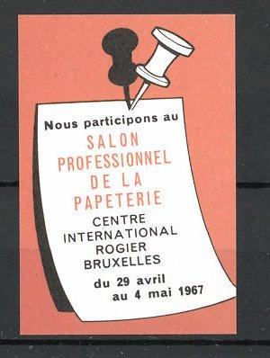 Reklamemarke Bruxelles, Salon Professionnel de la Papeterie