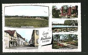 Ansichtskarte Rodheim v. d. Höhe, Gesamtansicht, Strassenpartie,