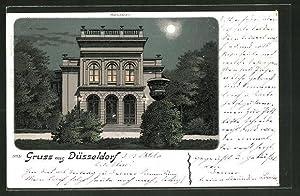 Mondschein-Lithographie Düsseldorf, Partie am Malkasten