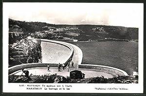 Ansichtskarte Marathon, Le barrage et le lac