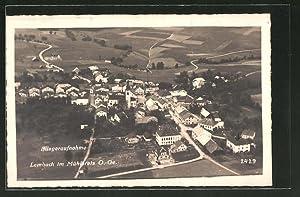 Ansichtskarte Lembach i. Mühlkreis, Fliegeraufnahme des Dorfes