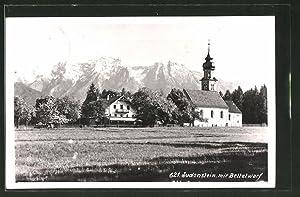 Ansichtskarte Judenstein, Ortsansicht mit Bettelwurf