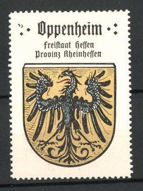 Reklamemarke Wappen von Oppenheim, Freistaat Hessen, Provinz