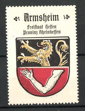 Reklamemarke Wappen von Arnsheim, Freistaat Hessen, Provinz