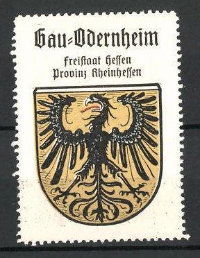 Reklamemarke Wappen von Gau-Odernheim, Freistaat Hessen, Provinz