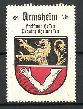 Reklamemarke Wappen von Armsheim, Freistaat Hessen, Provinz