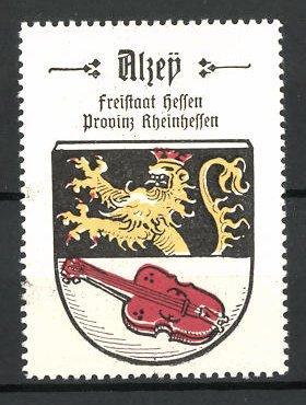 Reklamemarke Wappen von Alzey, Freistaat Hessen, Provinz