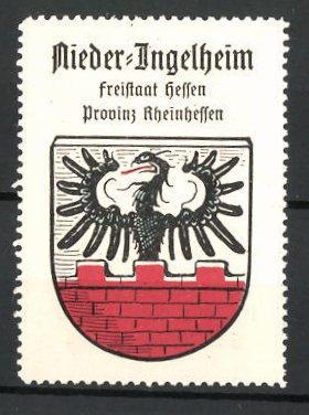 Reklamemarke Wappen von Nieder-Ingelheim, Freistaat Hessen, Provinz