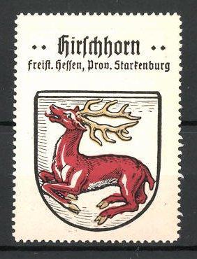 Reklamemarke Wappen von Hirschhorn, Freistaat Hessen, Provinz