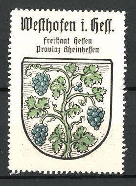 Reklamemarke Wappen von Westhofen in Hessen, Freistaat