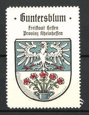 Reklamemarke Wappen von Guntersblum, Freistaat Hessen, Provinz