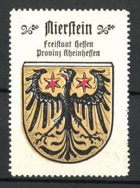 Reklamemarke Wappen von Nierstein, Freistaat Hessen, Provinz