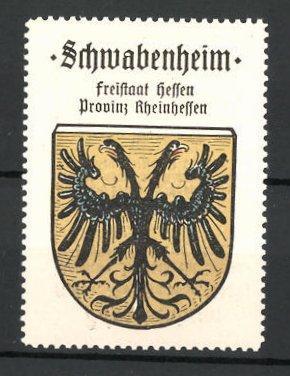 Reklamemarke Wappen von Schwabenheim, Freistaat Hessen, Provinz