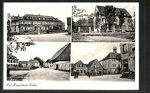 Ansichtskarte Bad Mingolsheim / Baden, Rathaus, Kurhaus