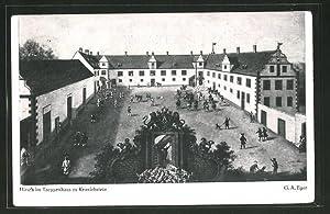 Ansichtskarte Darmstadt, Jagdschloss Kranichstein, Hof