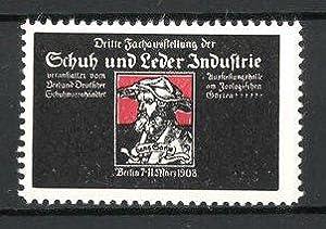 Reklamemarke Berlin, Schuh-und Leder-Industrie-Ausstellung 1908, Hans-Sachs-Porträt