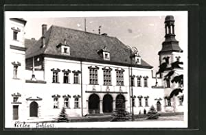 Foto-Ansichtskarte Kielce, Partie am Schloss