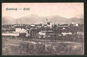 Ansichtskarte Krainburg-Kranj, Totalansicht aus der Vogelschau