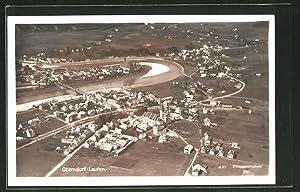 Ansichtskarte Oberndorf-Laufen, Ortsansicht, Fliegeraufnahme