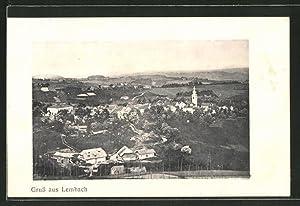 Ansichtskarte Lembach, Gesamtansicht aus der Vogelschau
