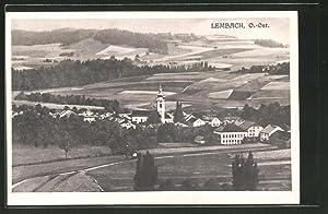 Ansichtskarte Lembach, Ortspanorama mit Kirche