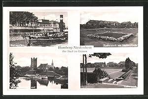 Ansichtskarte Homberg / Niederrhein, Rheingarten, Lutherpark mit