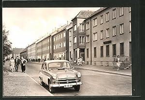 Ansichtskarte Kitzscher, Partie in der Ladenstrasse
