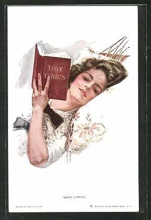 Künstler-Ansichtskarte Harrison Fisher: Love Lyrics, Fäulein mit