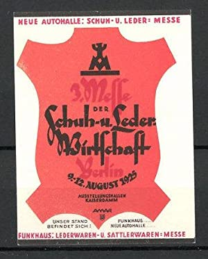 Reklamemarke Berlin, 3. Messe der Schuh-und Lederwirtschaft