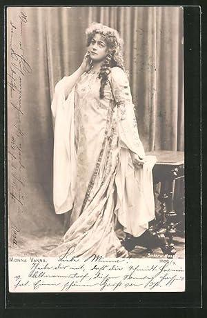 Ansichtskarte Schauspielerin Monna Vanna im Kleid posierend
