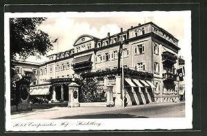 Ansichtskarte Heidelberg, Eingang zum Hotel Europäischer Hof