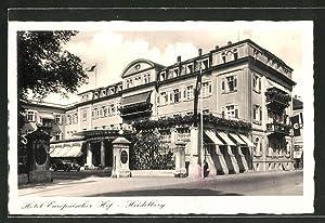 Ansichtskarte Heidelberg, Eingang zum Hotel Europäischer Hof,