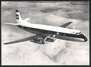 Ansichtskarte BEA Jet-prop Viscount von, nach Berlin