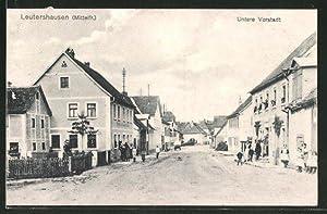 Ansichtskarte Leutershausen / Mittelfr., Strassenpartie in der