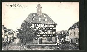 Ansichtskarte Holzappel, Hotel-Restaurant zum Bären, Marktplatz mit