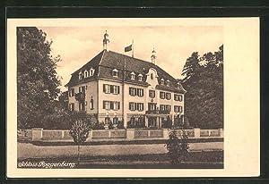 Ansichtskarte Roggenburg, Strassenpartie am Schloss Roggenburg