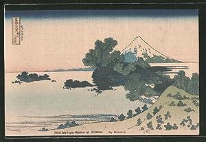 Künstler-Ansichtskarte Shichiri-ga-Hama at Soshu, Landschaftspartie, Japanische Kunst