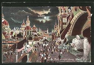 Ansichtskarte Coney Island, N.Y., Luna Park at