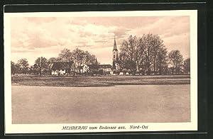Ansichtskarte Mehrerau, Ortsansicht vom Bodensee aus, Nord-Ost