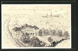 """Künstler-Ansichtskarte Bregenz, Sanatorium """"Salus Infirmorium"""" zu Mehrerau"""