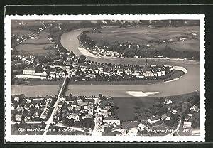 Ansichtskarte Oberndorf-Laufen a. d. S., Ortsansicht, Fliegeraufnahme